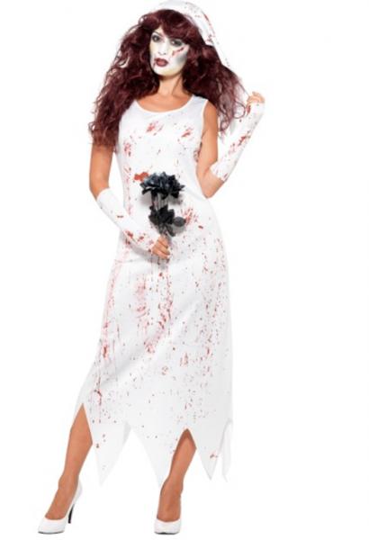 Zombie halloween brud kostyme - Importpris.no AS a454ff4a206e2