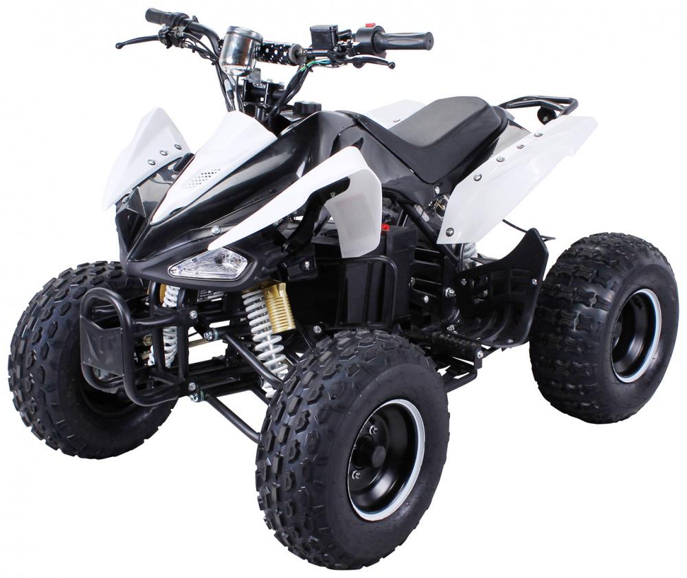 0 Speedy S-14 - Stor elektrisk MIDI ATV 1000W - hvit