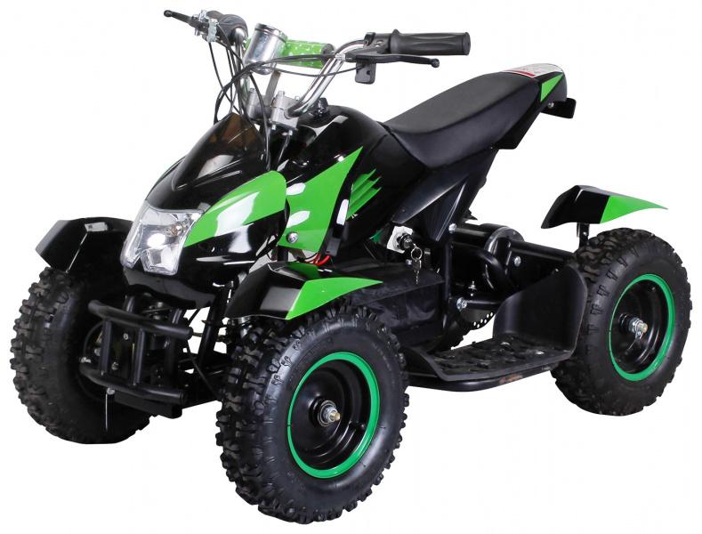 0 Mini ATV Cobra 800w elektrisk sort-grønn