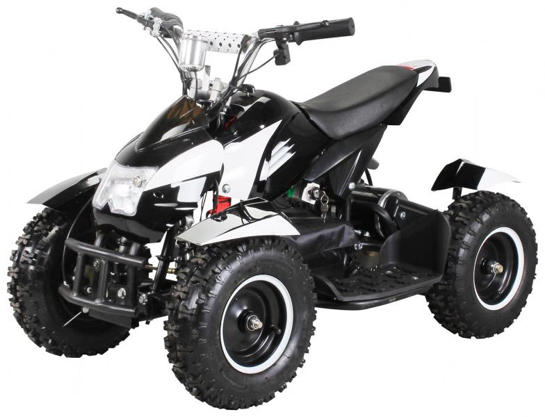 0 Mini ATV Cobra 800w elektrisk sort-hvit
