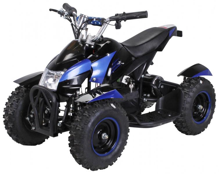 0 Mini ATV Cobra 800w elektrisk sort-blå