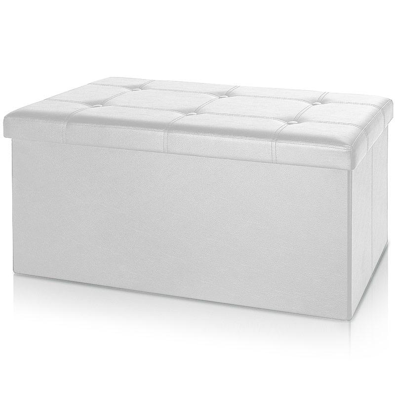 0 Benk med oppbevaring 80 cm - hvit