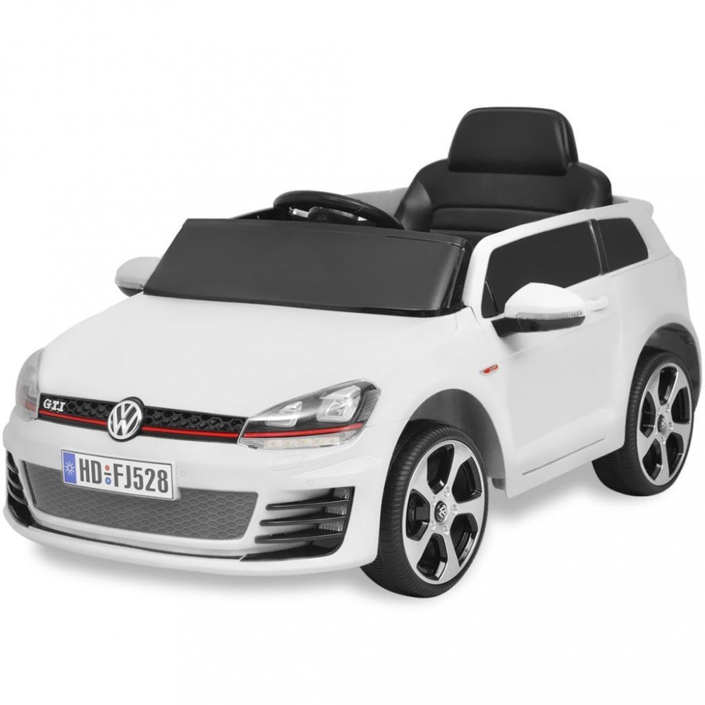 0 Elektrisk bil VW Golf GTI 7 Hvit 12 V med Fjernkontroll