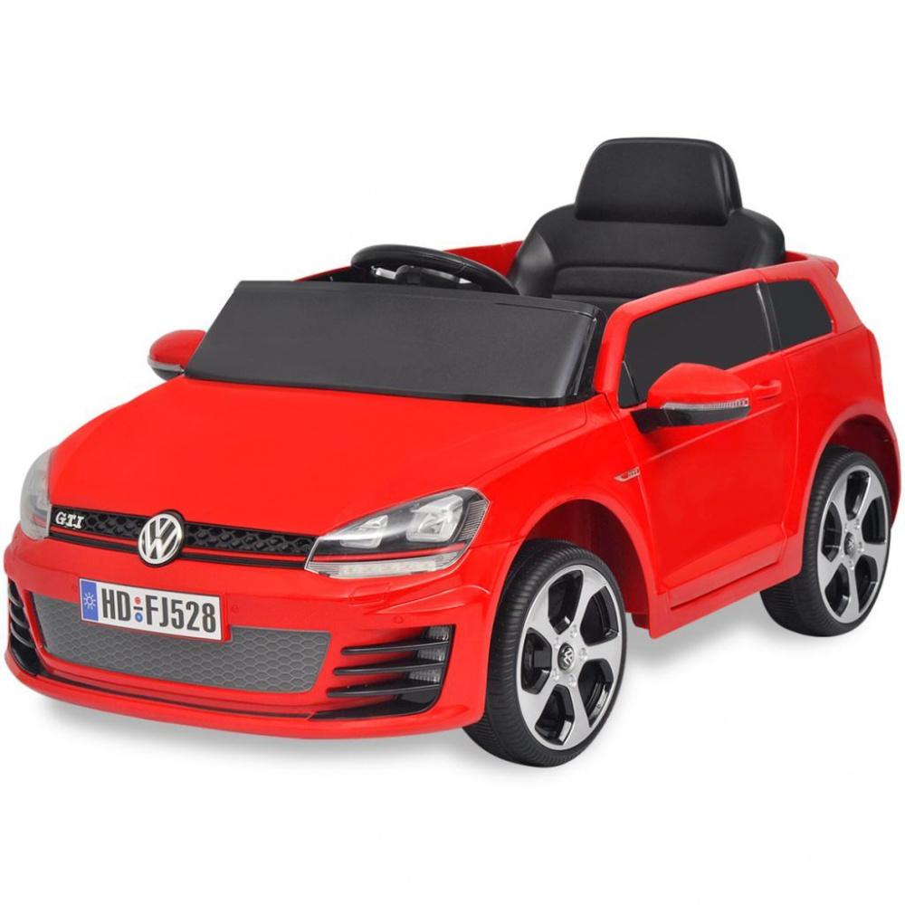 0 Elektrisk bil VW Golf GTI 7 Rød 12 V med Fjernkontroll