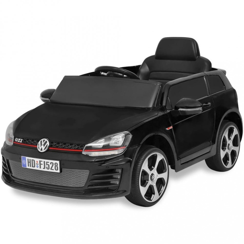 0 Elektrisk bil VW Golf GTI 7 Sort 12 V med Fjernkontroll