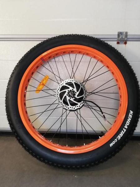 0 Komplett bakhjul med motor til TDE07