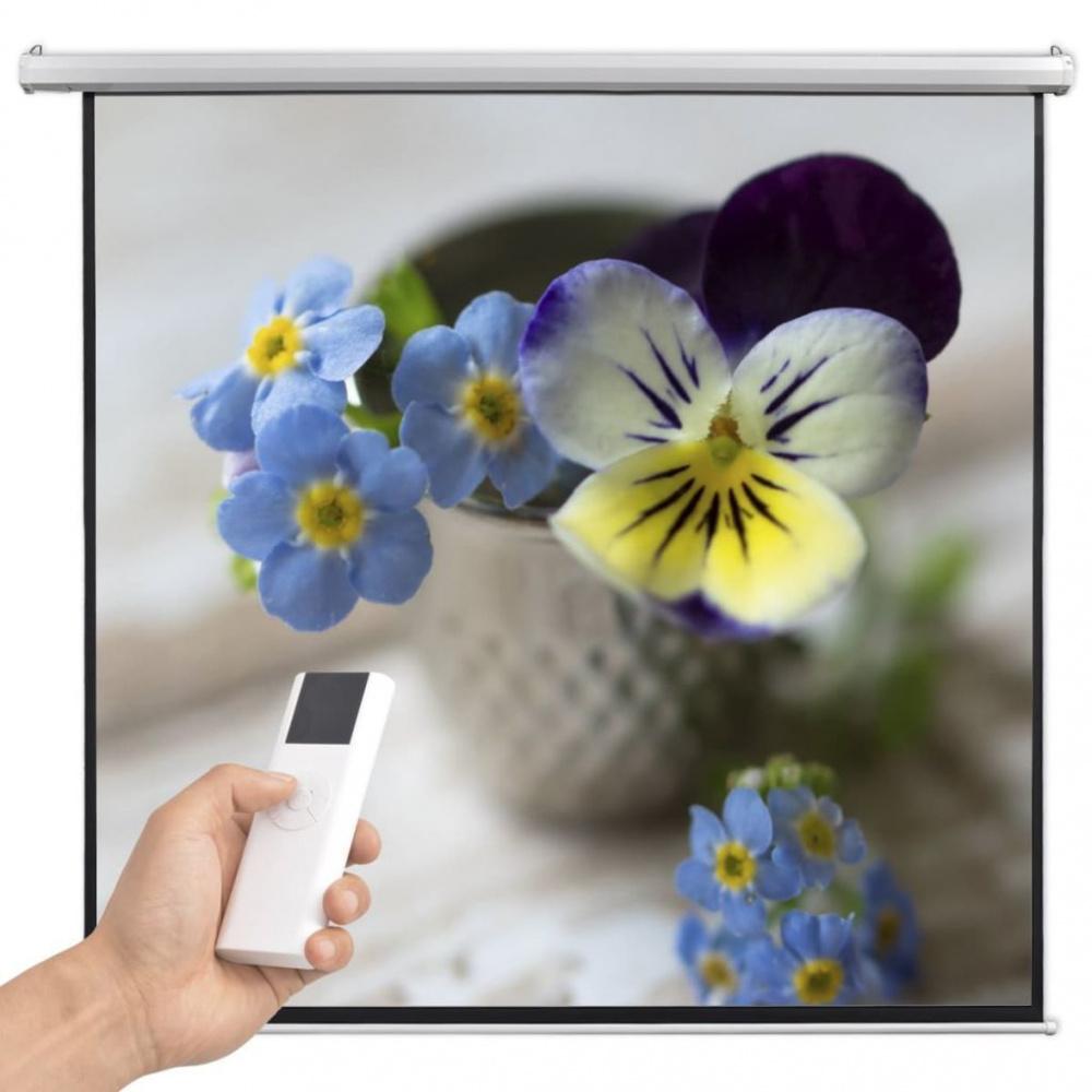 0 Elektrisk projektorskjerm med fjernkontroll 200x200