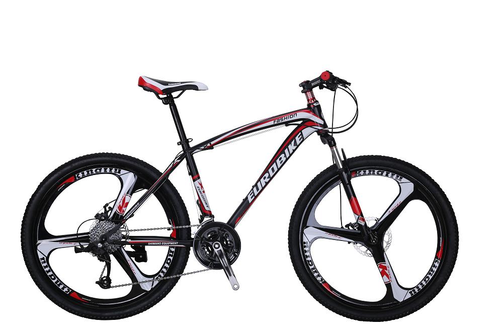 0 Eurobike MTB med mag wheels - sort-rød