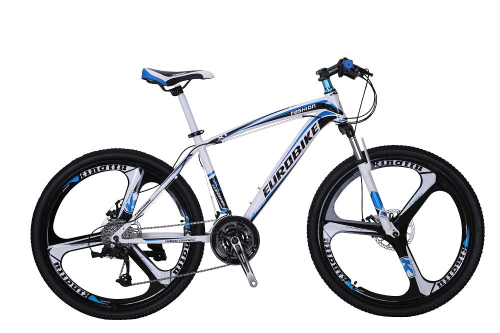 0 Eurobike MTB med mag wheels - hvit-blå