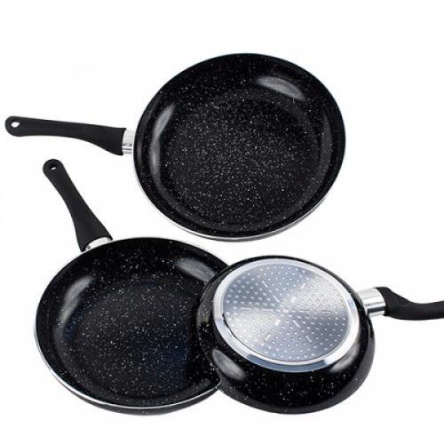 Appetitissime Black stone stekepanner 3 stk - steinbelagt