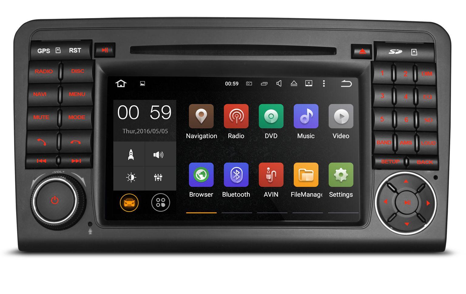 0 XTRONS Android Spesialspiller For Mercedes ML/GL - GPS, WIFI og