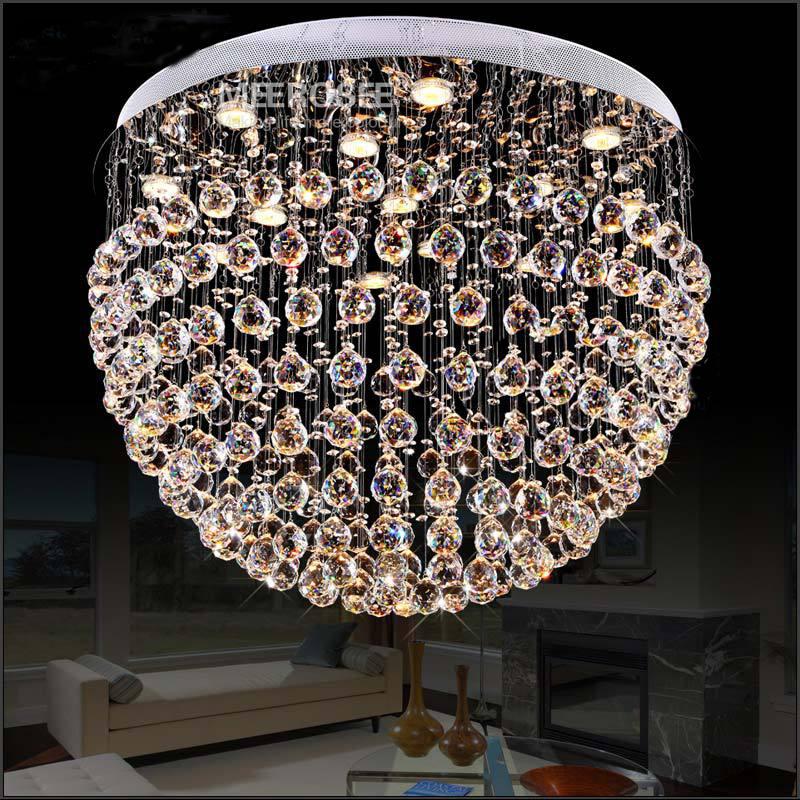 0 Rund Krystall Lampe med 5 halogen lys