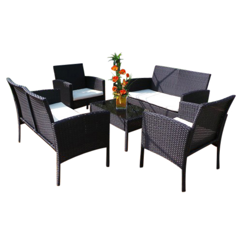 0 Rio Poly Rotting XXL sittegruppe med 2 sofaer bord og 2 stoler -