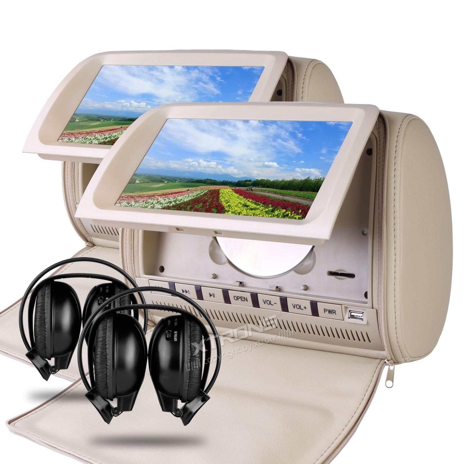 0 Xtrons HD905VDG 2x beige nakkestøtte DVD spillere 9