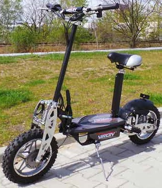 0 DEMO - Elektrisk sparkesykkel - Scooter 1000W, 36V