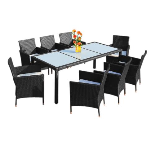 0 Rotting spisegruppe XXL med 8 stoler