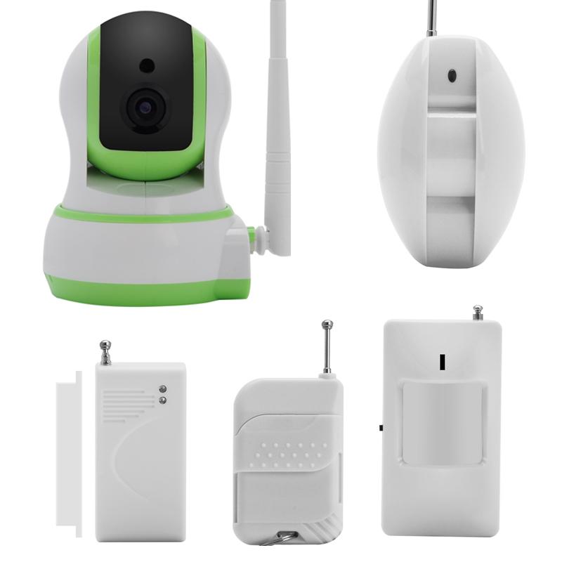 0 Wifi IP kamera og sikkerhetssystem med app for Android og iOS