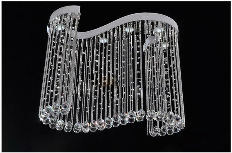 0 Luksuriøs Krystall Taklampe - bølget
