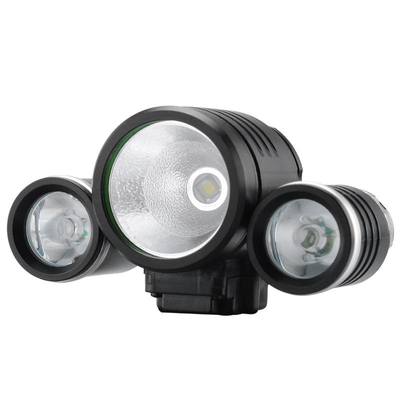 0 1800 Lumens LED Sykkel Lykt Og Hodelykt Kombinert