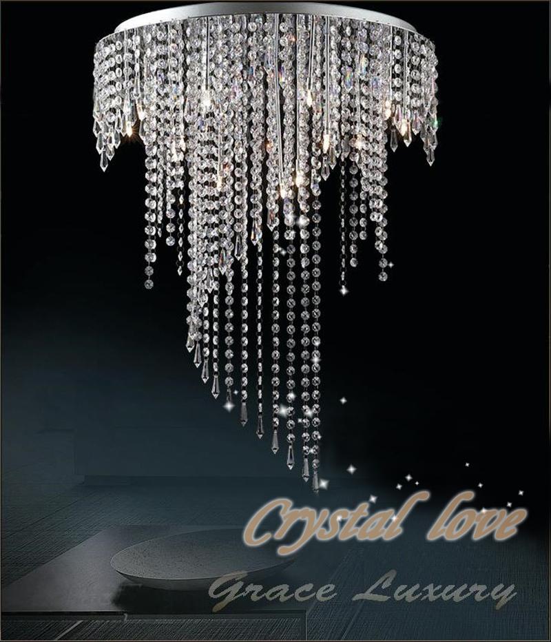 0 Taklampe i krystall - spiraldesign med 8 lys (MD8551MERS)