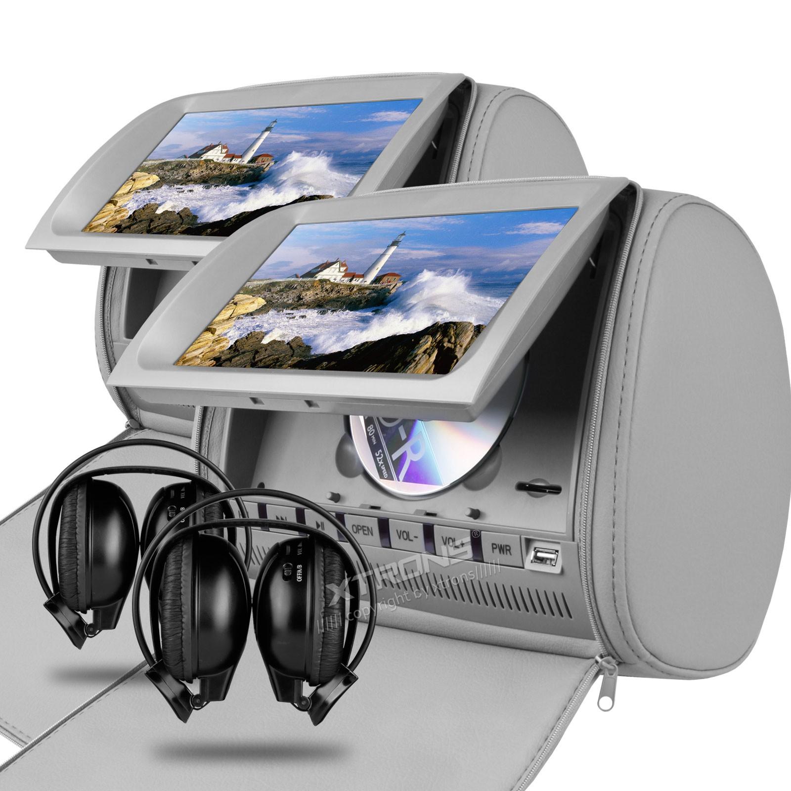 0 Xtrons HD905VDG 2x grå nakkestøtte DVD spillere 9