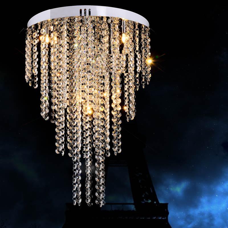 0 Rund krystall lampe for Møterom, spisestue, soverom - D400mm - M