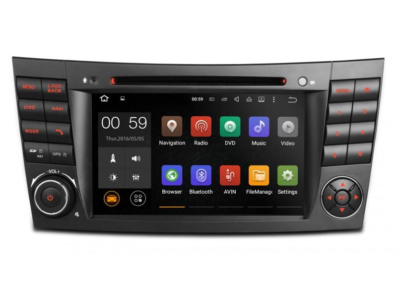 0 XTRONS Android spesialspiller for Mercedes - GPS og WIFI - DAB+
