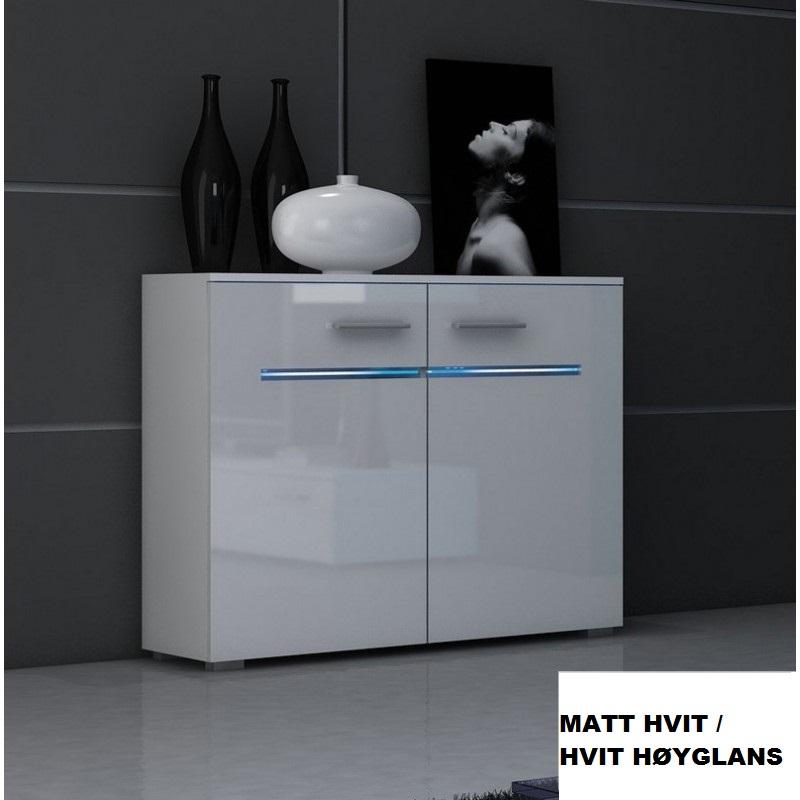 0 Kommode Bremen - Matt hvit / Hvit høyglans - RGB
