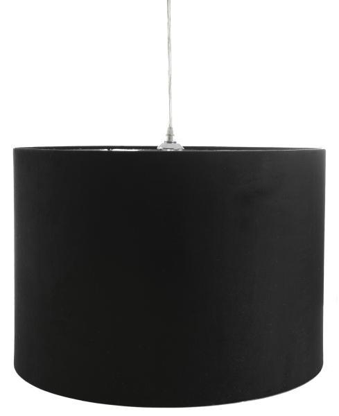 0 Stor sort taklampe - Ø:50 H:35 cm