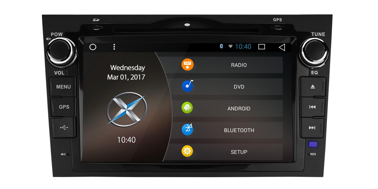 0 Xtrons Spesialspiller for Honda CRV med DVD Android 6.0 og DAB+