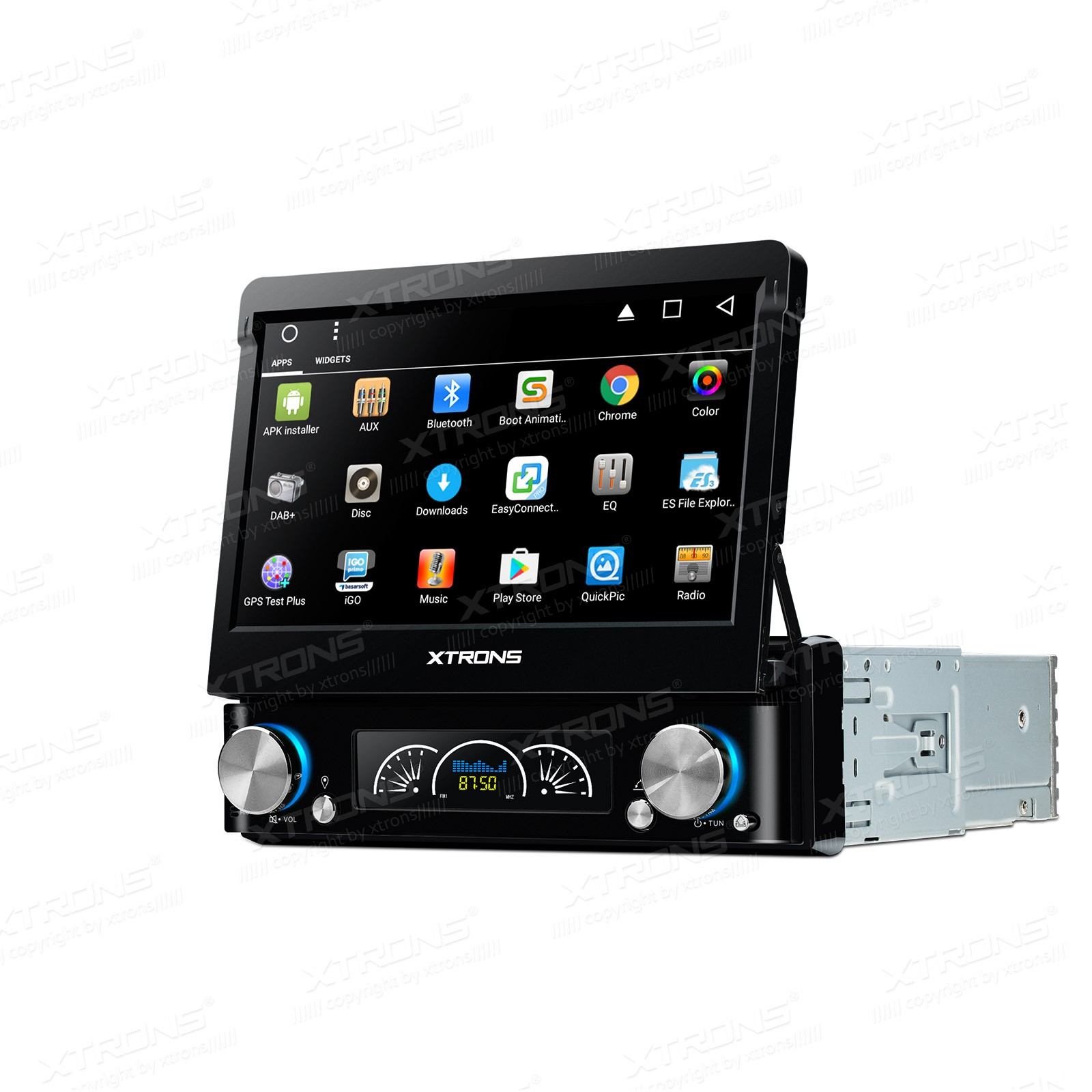 0 Xtrons Universal 1 DIN Android DVD spiller med GPS og DAB+