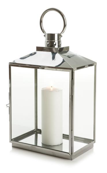 0 Lykt stål avlang H:53,5 cm