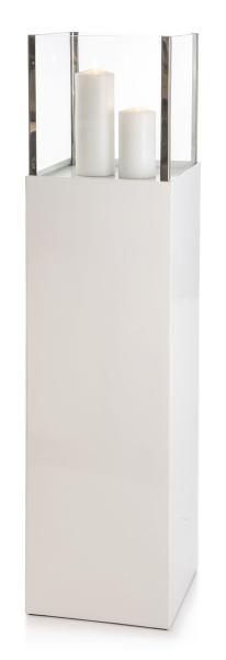0 Lykt på søyle H:153 cm - hvit