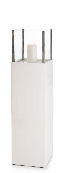 0 Lykt på søyle H:125 cm hvit