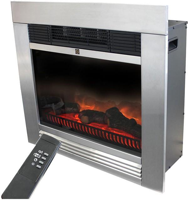 0 Klassisk elektrisk peis med flammeeffekt 1800W - For innbygging