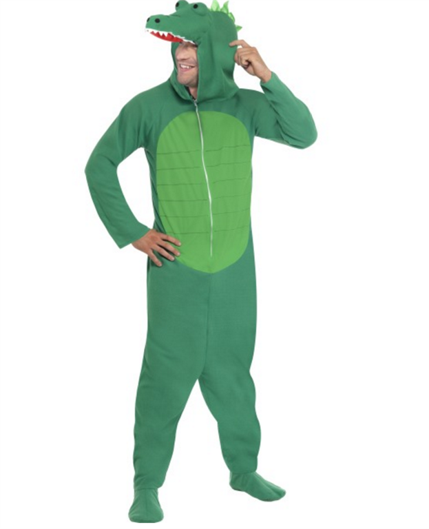 0 Grønn krokodille kostymedrakt