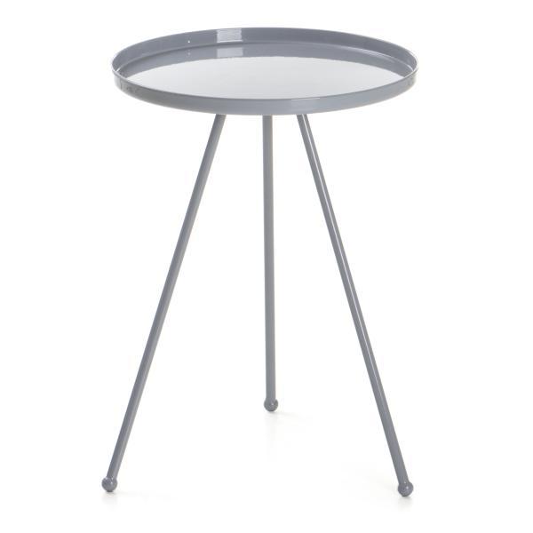 0 Bord Tea rundt metall - grå
