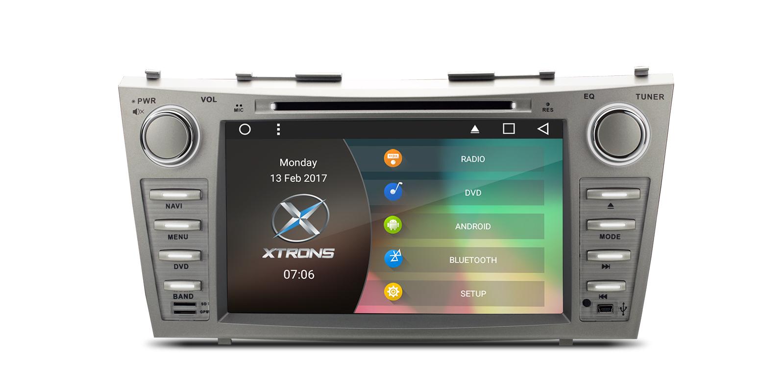 0 Xtrons Spesialspiller for Toyota Camry med DVD Android 6.0 og DA