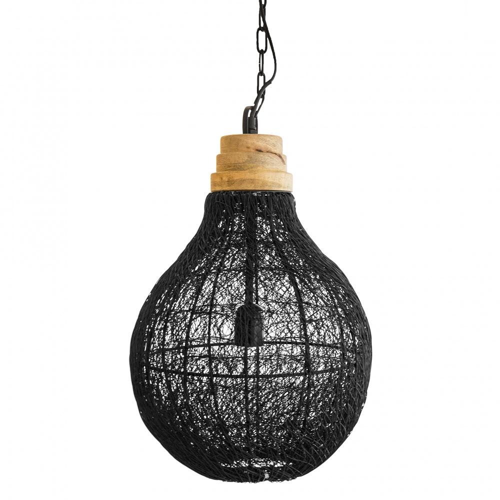 0 Lampe heng sort wire