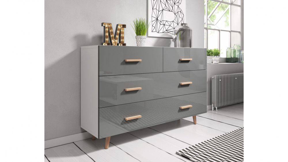 0 Kommode - Sverige 125x80 cm grå