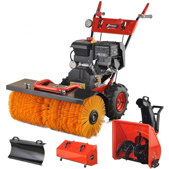 0 Power Sweeper 13 hk med elstart - 4 i 1 Snøfreser