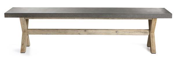 0 Benk betong m/akasiaben 40x180 cm