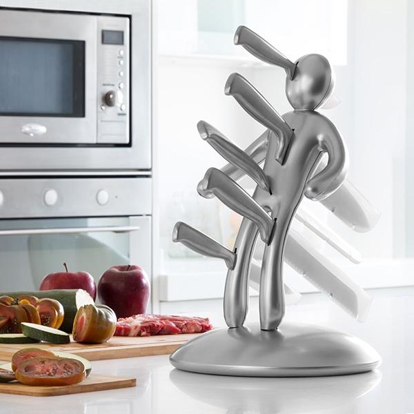 InnovagoodsVoodoo knivsett (6 stk) - sølv