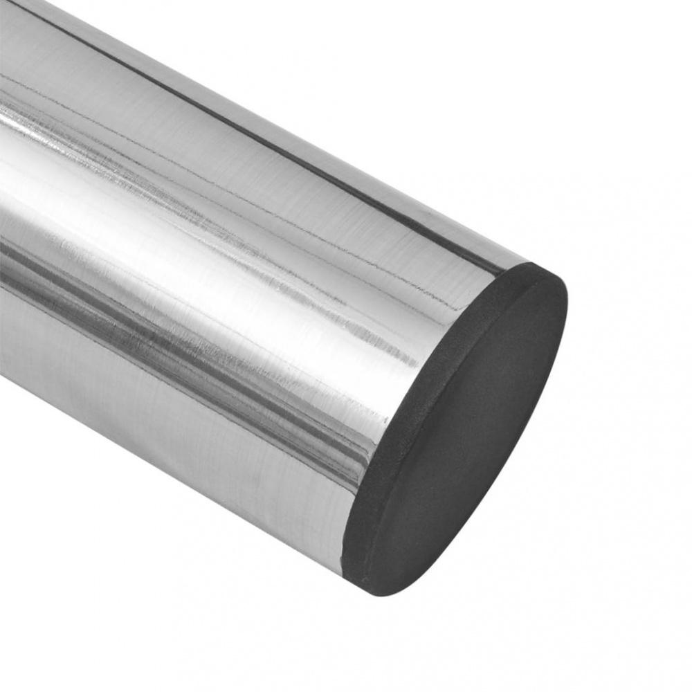 2 teleskopiske Bordben børstet nikkel 710 mm 1100 mm