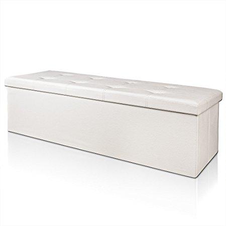 0 Benk med oppbevaring114 cm - hvit