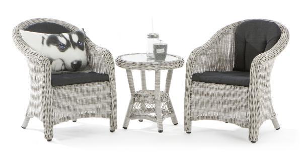 0 Lyngholm rotting barnesett med stoler og bord