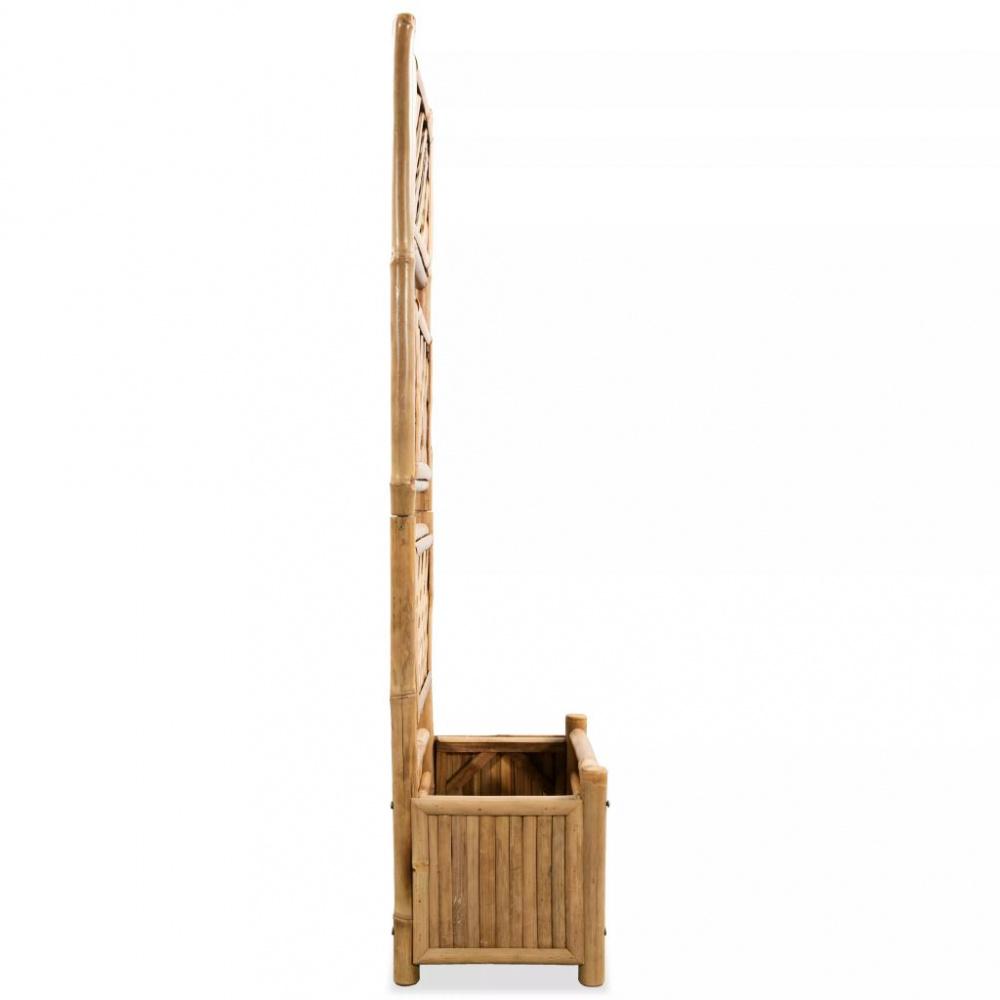 Flott Blomsterkasse med espalier i bambus - 40 cm - Importpris.no AS IG-97