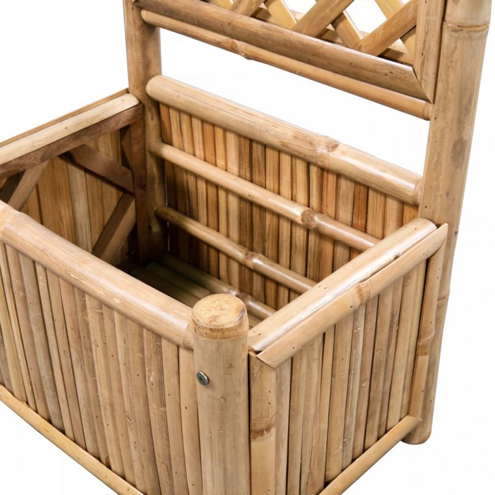 Hyggelig Blomsterkasse med espalier i bambus - 40 cm - Importpris.no AS DD-32