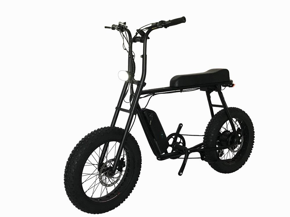 0 Retro fatbike elektrisk sykkel 750w