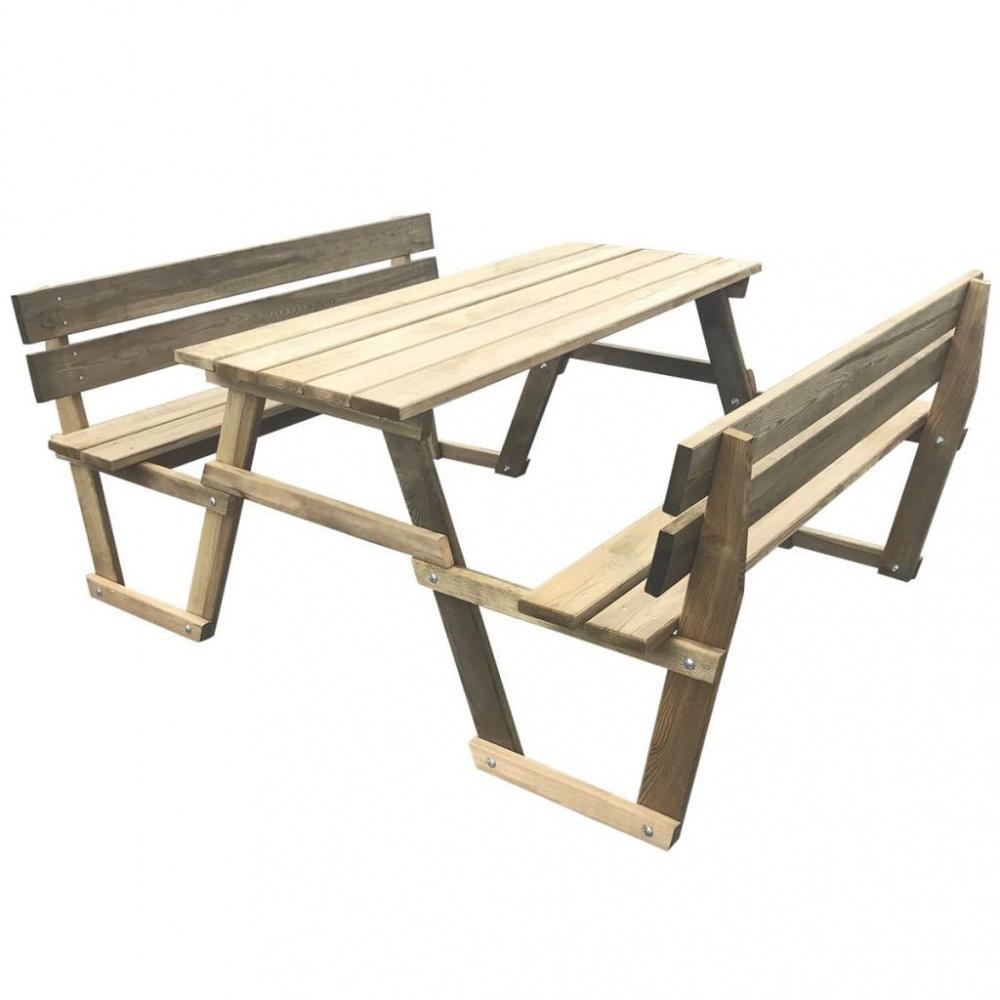0 Piknikbord med 2 benker impregnert furu